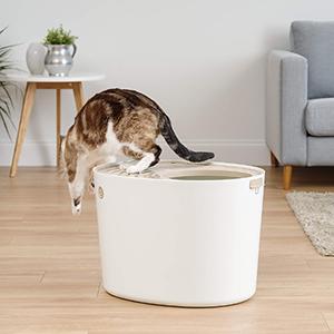 IRIS Top Entry Cat Litter Box with Cat Litter Scoop-petsourcing