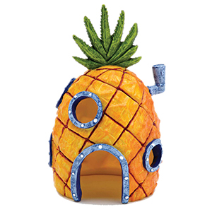 Pineapple House Aquarium Ornament – Durable Resin Safe for All Fish