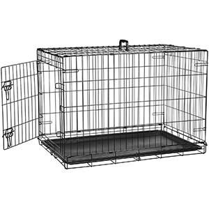 Single Door & Double Door Folding Metal Dog Crate